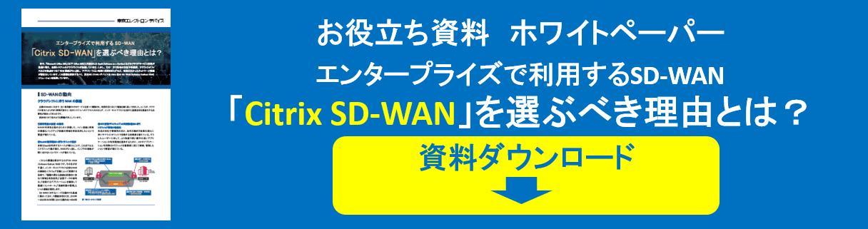 【Citrix】Citrix SD-WAN を選ぶべき理由とは?