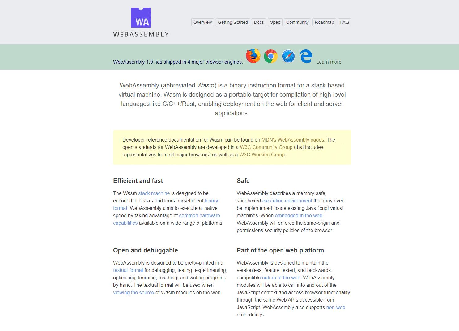 WebAssemblyはWebブラウザで実行できるバイナリフォーマット