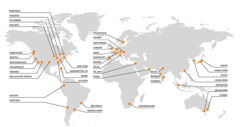 Netskope_世界に広がるデータセンター