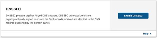 ワンクリックで有効化可能なDNSSEC